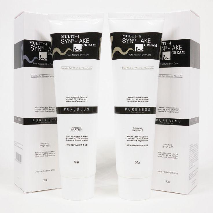 Purebess Multi-4 Syn-ake Cream 50g x 2 Anti Wrinkle Snake Venom Cream SYN-AKE 4% #Purebess