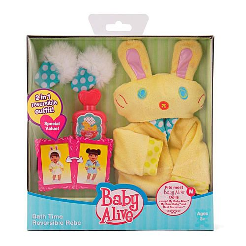 "Baby Alive Reversible Outfit - Bathtime Robe - Funrise - Toys ""R"" Us"
