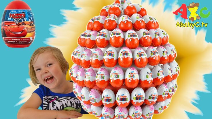 25 Giant Kinder Surprise egg Minion Cars ToyStory Super Mario Frozen Sta...