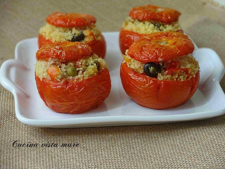 Pomodori ripieni nel fornetto Versilia Cucina vista mare