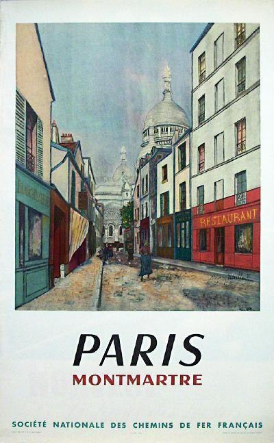 Poster: Paris - Montmartre Artist: Maurice Ubielle