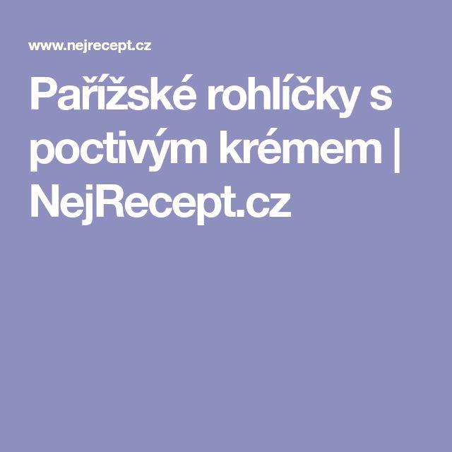 Pařížské rohlíčky s poctivým krémem | NejRecept.cz