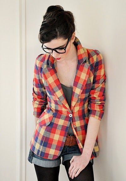 Plaid blazer - the perfect way to pump up any fall/winter outfit! Put it over a tshirt and jeans, finished off with chucks, and you're set!