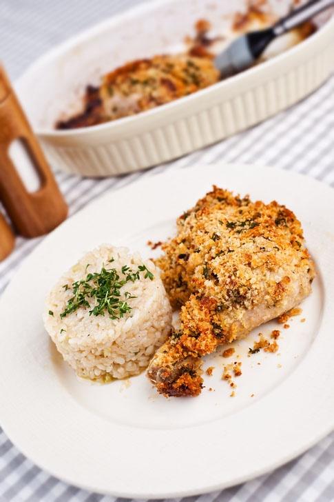 Kuře s parmazánovou krustou.