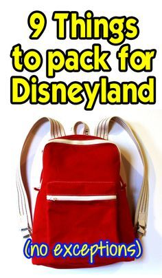9 things you should not enter the park without. Be prepared!