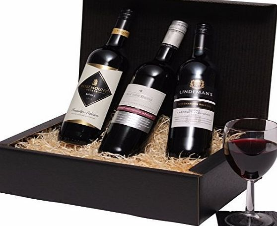 Clearwater Hampers Wine Hamper - Australian 3 Bottle Red Wine Selection - Trio Of Red Wine Gift This red wine gift includes:  75cl Rosemount Founders Selection Shiraz 2015, 75cl Lindemans Winemakers Release Shiraz Cabernet Sauvignon 2015, 75cl Au (Barcode EAN = 5060310843662) http://www.comparestoreprices.co.uk/december-2016-week-1-b/clearwater-hampers-wine-hamper--australian-3-bottle-red-wine-selection--trio-of-red-wine-gift.asp