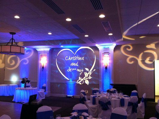 loving the magical touch of a personalized gobo monogram great wedding monogramswedding lightinglighting ideaswedding