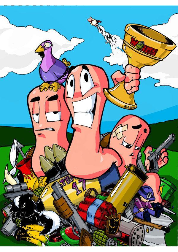 Worms by marcusmarty.deviantart.com on @deviantART #Worms, #Team17, #fanart