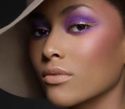I love Blackup cosmetic's glamorous pastel look with lavender and gold!  I'll add this look to my holiday party makeup!