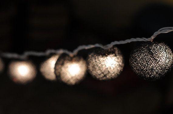 20 x all black emo elegant cotton ball decoration by cottonlight, $15.50