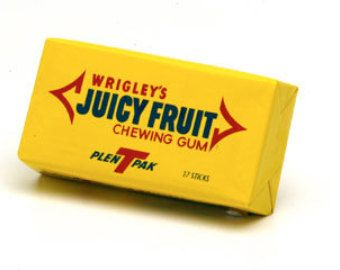 juicy fruit gum fruits that start with p