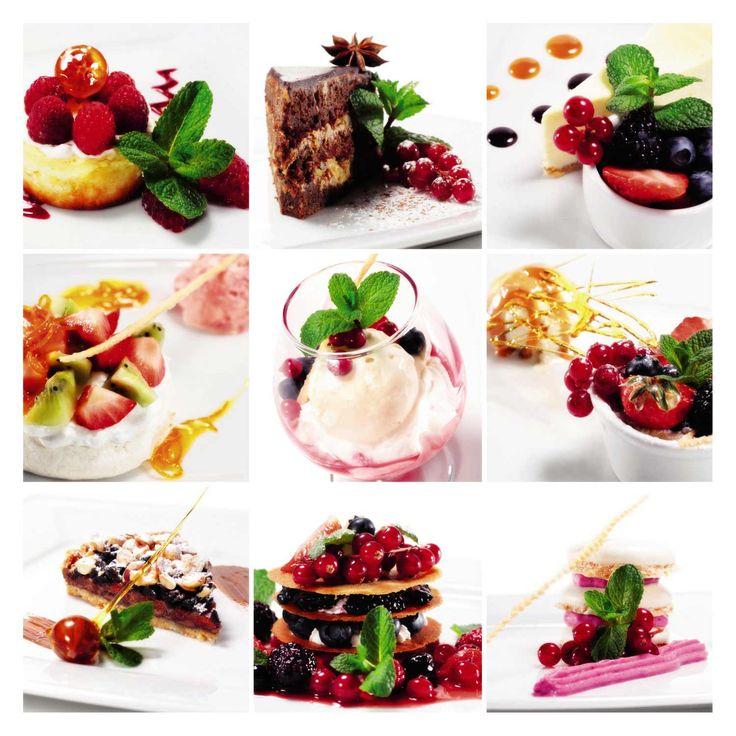 Desserts aux fruits pour les gourmands.
