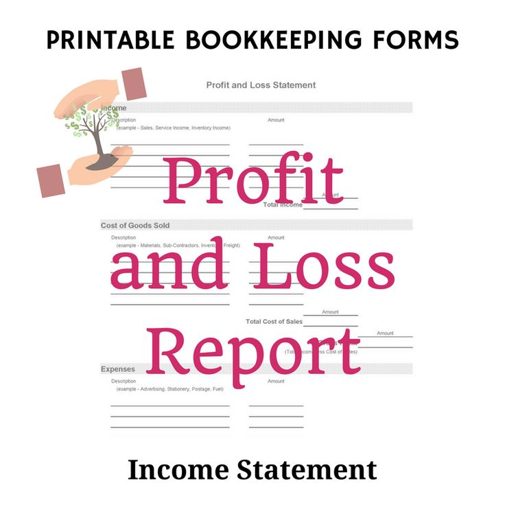 Printable Profit & Loss Statement Template