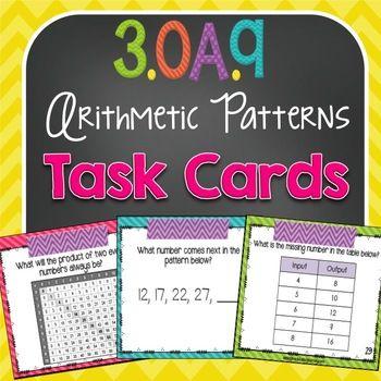 Arithmetic Patterns {3.OA.9}