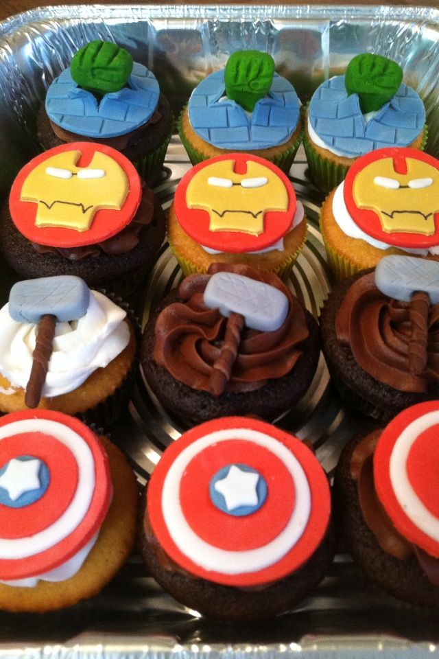 love the Thor's hammer. Instead of using fondant, a marshmallow would be a good idea since some kids hate the taste of fondant in their mouth
