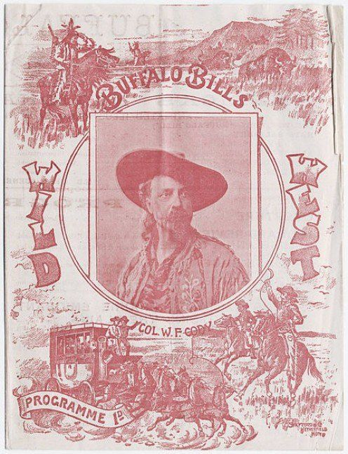 """""""Buffalo Bill's Wild West"""" show programme, featuring """"Col. W. F. Cody,"""" printed at South Brooklyn, New York. Image courtesy of the Beinecke Rare Book & Manuscript Library, Yale University."""
