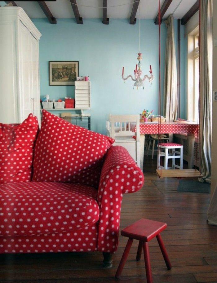 Rotes Sofa - 80 fantastische Modelle - Archzinenet Wohnzimmer