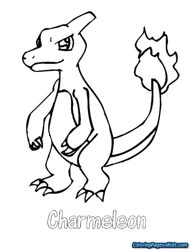 Charmeleon Pokemon Coloring Pages