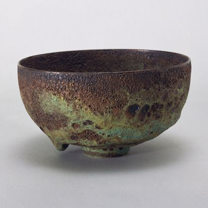 "Gertrud Natzler and Otto Natzler. ""Crater"" glazed ceramic bowl (no. L637). 1961"