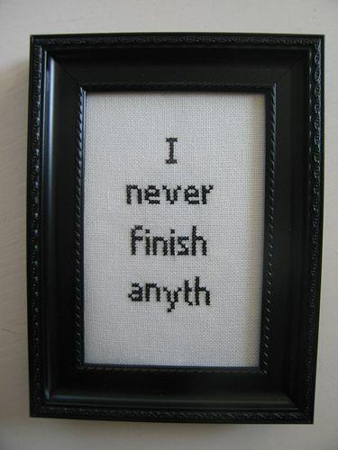 I never finish anyth | Flickr - Photo Sharing!