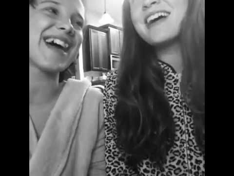 Millie Bobby Brown and Sadie Sink - 'when I'm gone' duet - YouTube