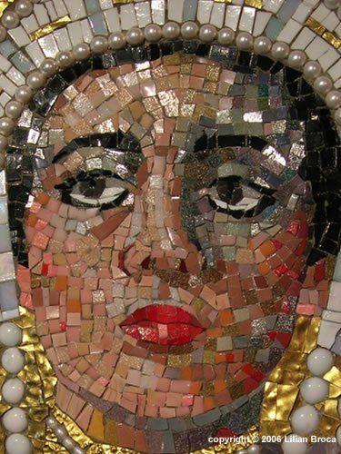 Queen Esther's Offering - mosaic portrait - mosaic portrait - Lilian Broca
