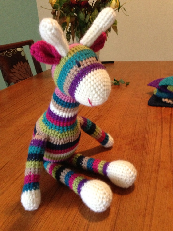 My first real attempt at crochet - gorgeous giraffe as a gift for a neighbour's baby girl. #spotlight40
