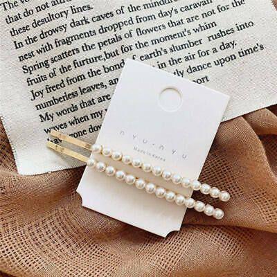 2019 Frauen Perle Haarspange Haarband Kamm Bobby Pin Haarspange Haarnadel Kopfschmuck #f