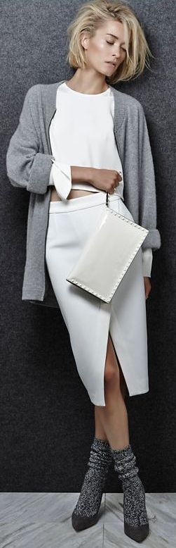 Cropped with cuffs and cozy sweater.. If ever I was to wear one.. -- Shae