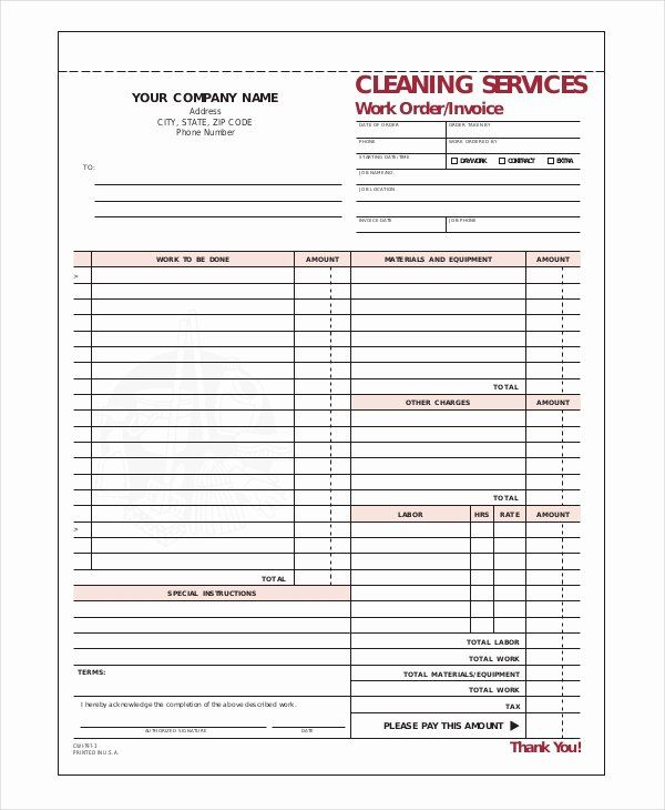 Cleaning Services Invoice Template Awesome Pany Invoice Template 7 Free Word Excel Pdf Invoice Template Invoice Template Word Invoicing