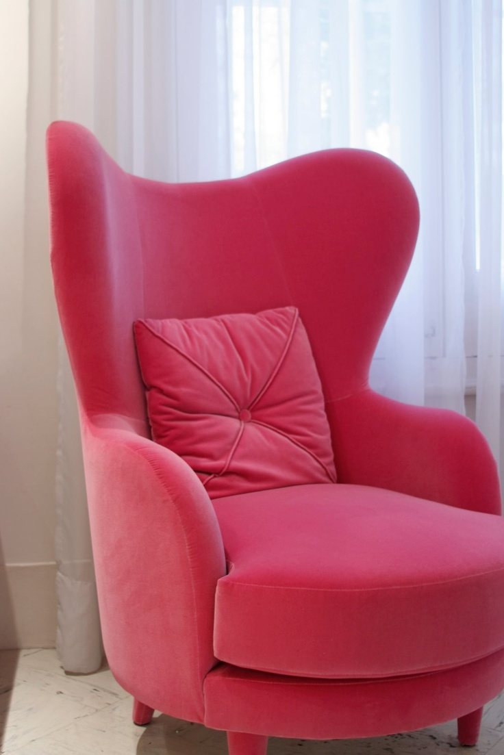 Pink velvet wingback chair   Different color760 best FuNkY Fabulous Furniture images on Pinterest   Painted  . Love Chairs Sofa. Home Design Ideas
