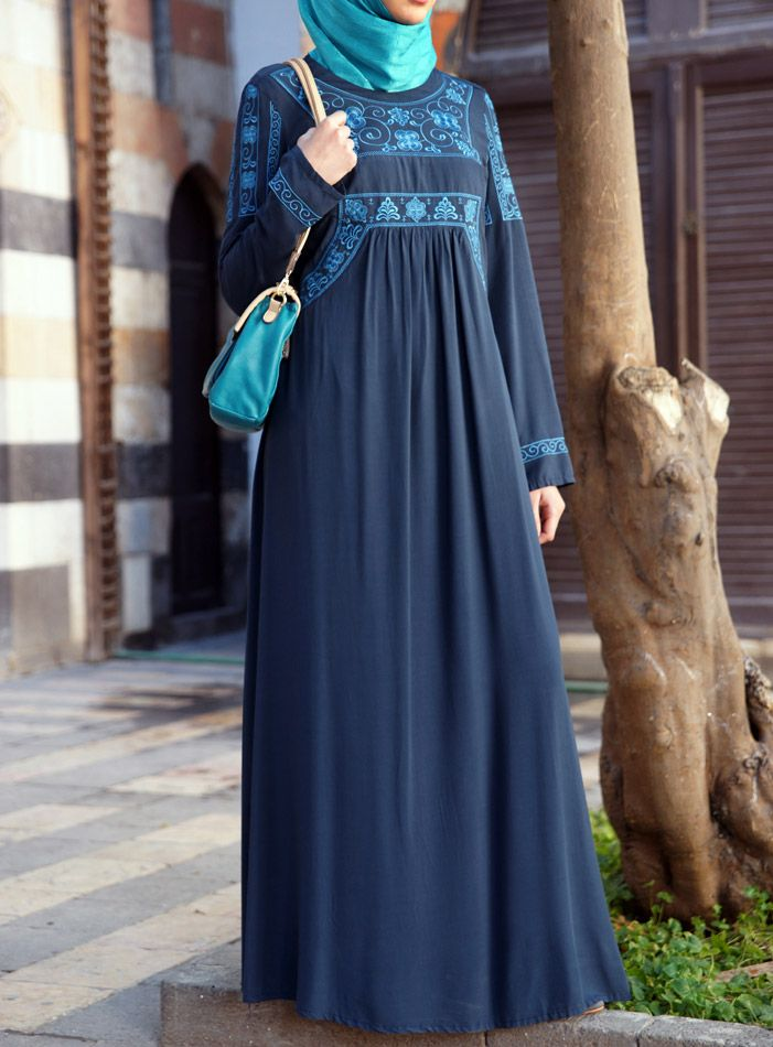 The Embroidery on this dress is like no other. Perfect for #eid! from SHUKR Islamic Clothing