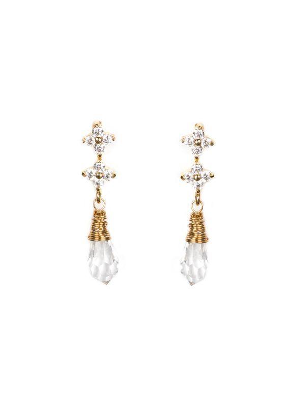 GEORGE crystal drop wedding earrings 1