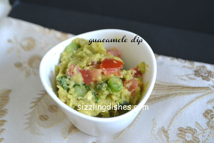 GUACAMOLE DIP-FAMOUS MEXICAN DIP Guacamole is a healthy and delicious snack enjoyed with tortilla chips,crackers or any chips. It can be served along with lamb chops as well.Do make this healthy homemade dip.