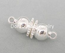 Doreen Box Lovely 10 Sets Silver color Magnetic Clasps 16x6mm Findings  (B04043)(China (Mainland))