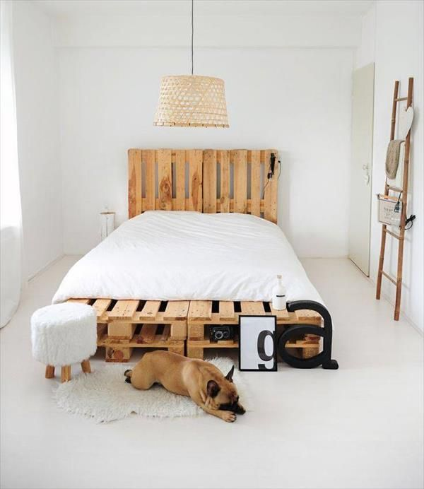 6 DIY #Pallet #Bed Ideas with Headboards | 99 Pallets