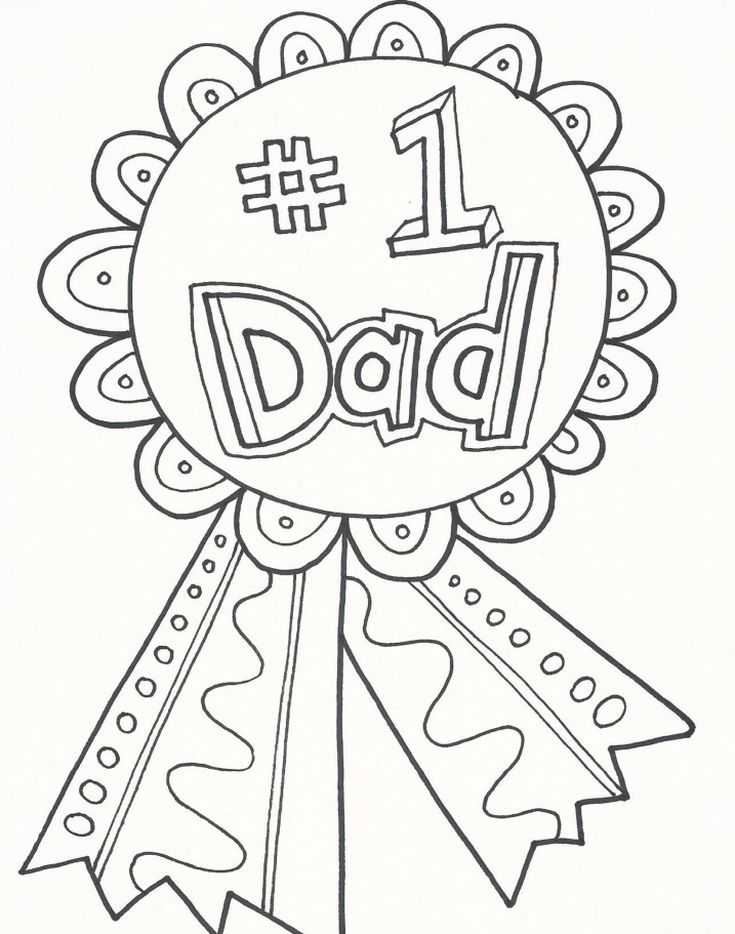 177 Free Father's Day Coloring Pages Dad Will Love: Doodle