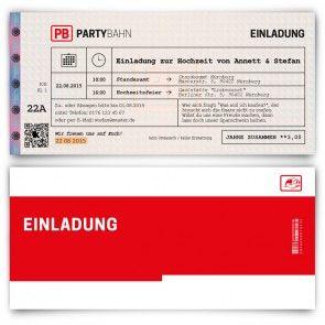 Hochzeitskarten als Bahnkarte  #hochzeit #einladungskarte #hochzeitseinladung #bahnticket #deutschebahn #einladung #papeterie #kartenmachende