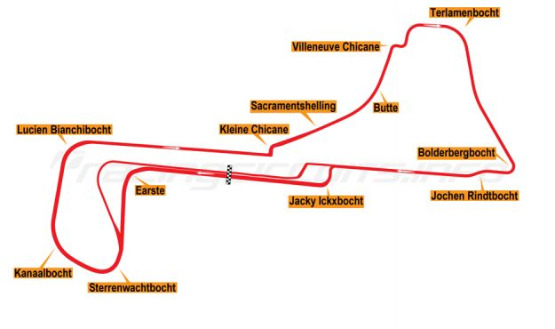 Map of Zolder, 2007 to date