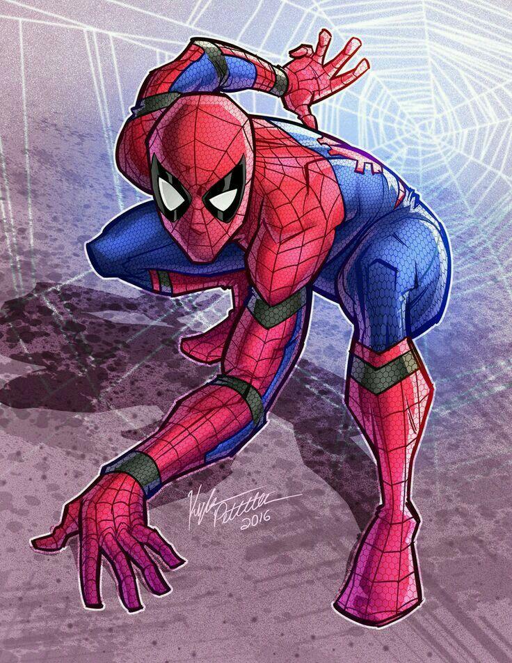 Spider-Man in the CA: Civil War movie costume