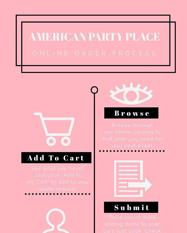 Hi friends! On Monday we mentioned that we have a NEW website! Today on the blog we are teaching you how to use our new quote request function. Click on the link in our bio to check it out! . . . . . #therentalgirls #americanpartyplace #blog #onlineorders #weddings #events #seattle #tacoma #pnw #southsound #howto #pink #infographic #checkitout