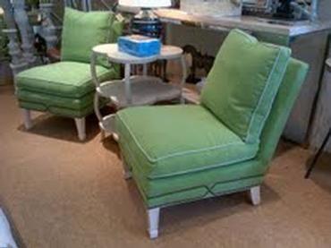 Nina Slipper Chair In Bonefish Sand Fabric Chair Outdoor Furniture Sets Slipper Chair