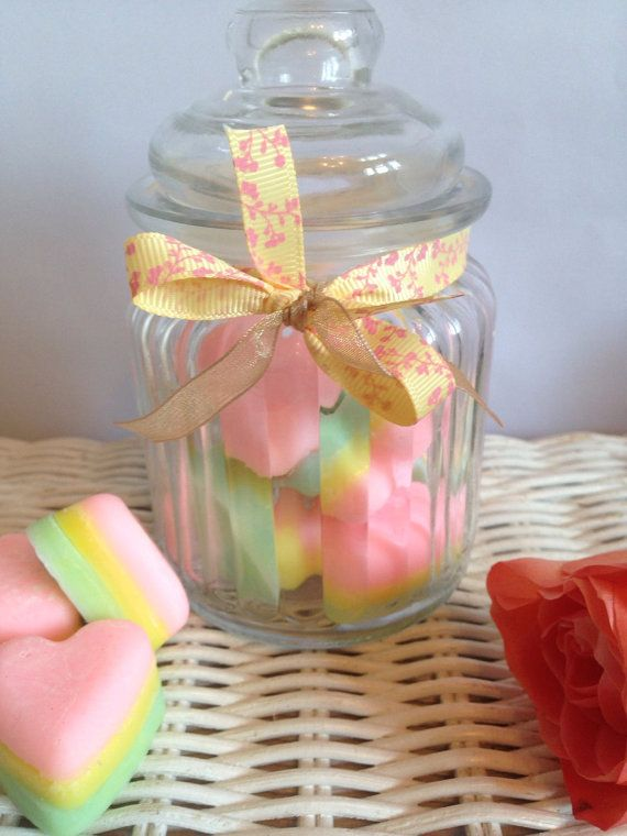 Heart wax melts rainbow wax melts heavenly wax by Charmingifts