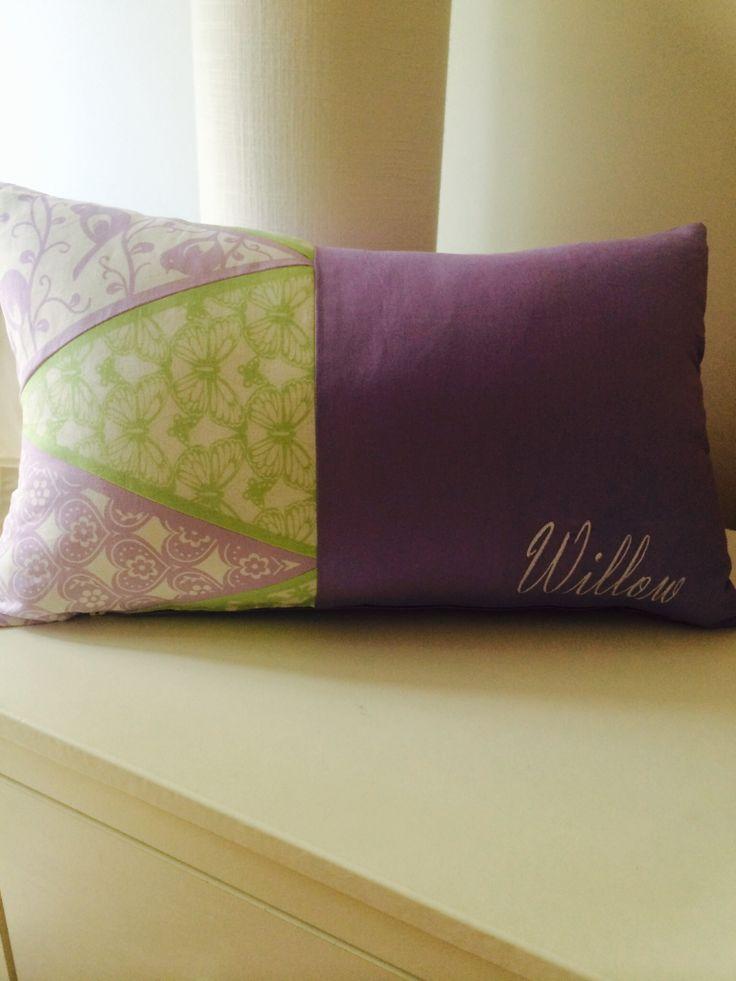 Bunting cushion girls