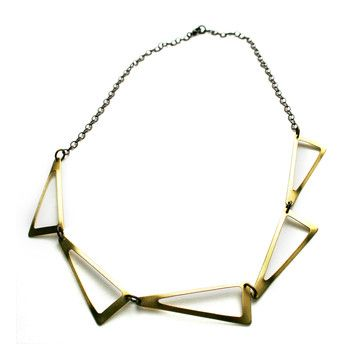 Flat Triangles Necklace, $39, now featured on Fab.