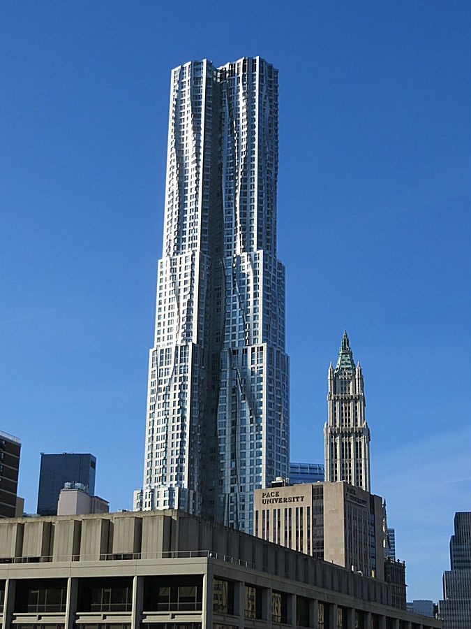 38 best college university of new york images on pinterest architect frank gehrys sleek futuristic steel and aluminum skyscraper completed in rises behind pace university in lower manhattan new york city fandeluxe Gallery