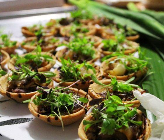 Gorgonzola, Walnut, Onion Tart