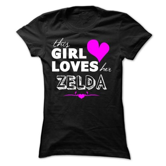 This girl loves her ZELDA - #vintage t shirt #long sleeve tee shirts. CHEAP PRICE: => https://www.sunfrog.com/Names/This-girl-loves-her-ZELDA-Ladies.html?60505