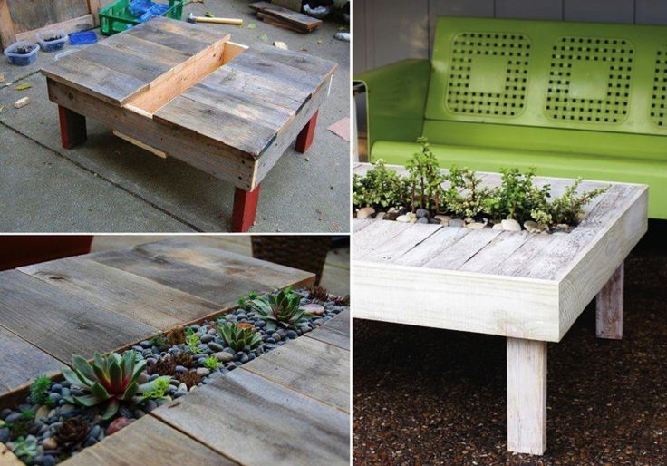Salon de jardin en palette : le mobilier extérieur écolo -  Tables ...