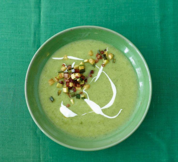Крем-суп из кабачков  Кабачковое меню: обед из четырех блюд + десерт - 5